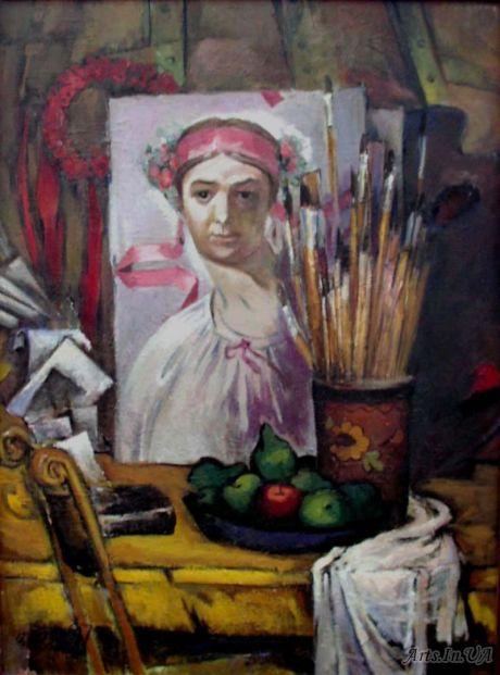 Натюрморт з рисунком Т.Г.Шевченка
