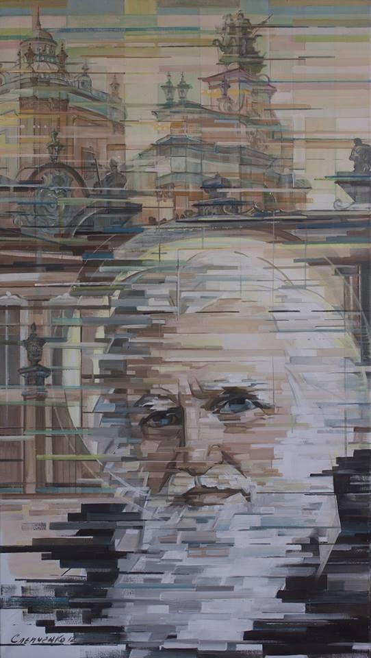 Портрет Митрополита Андрея Шептицького , п.акрил 2012