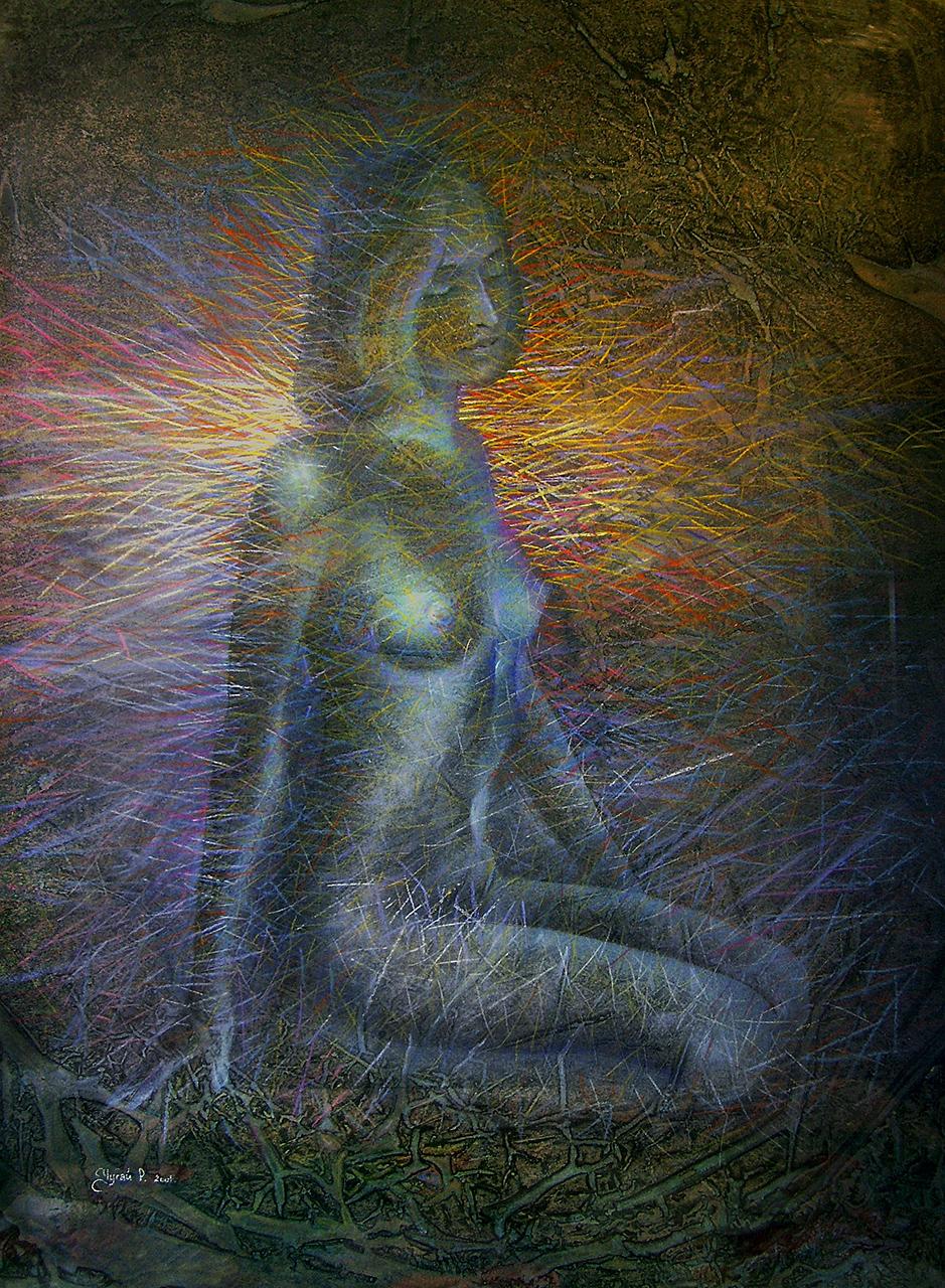 Самотність-пастель-60х80