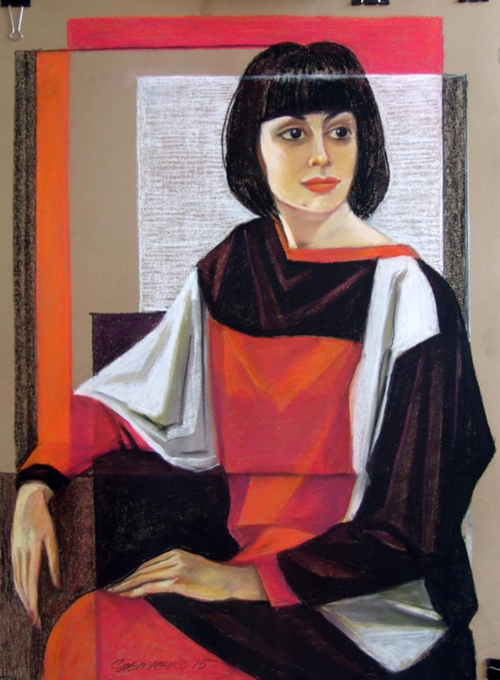 портрет художниці Марини Громенко,к.пастель.2015