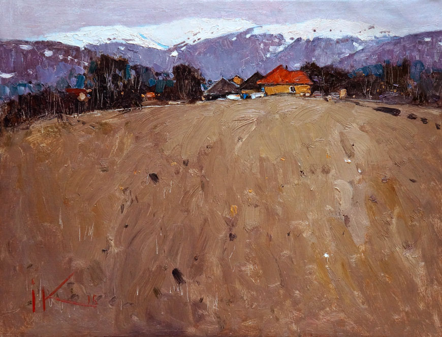 Закарпатский пейзаж с желтым домом