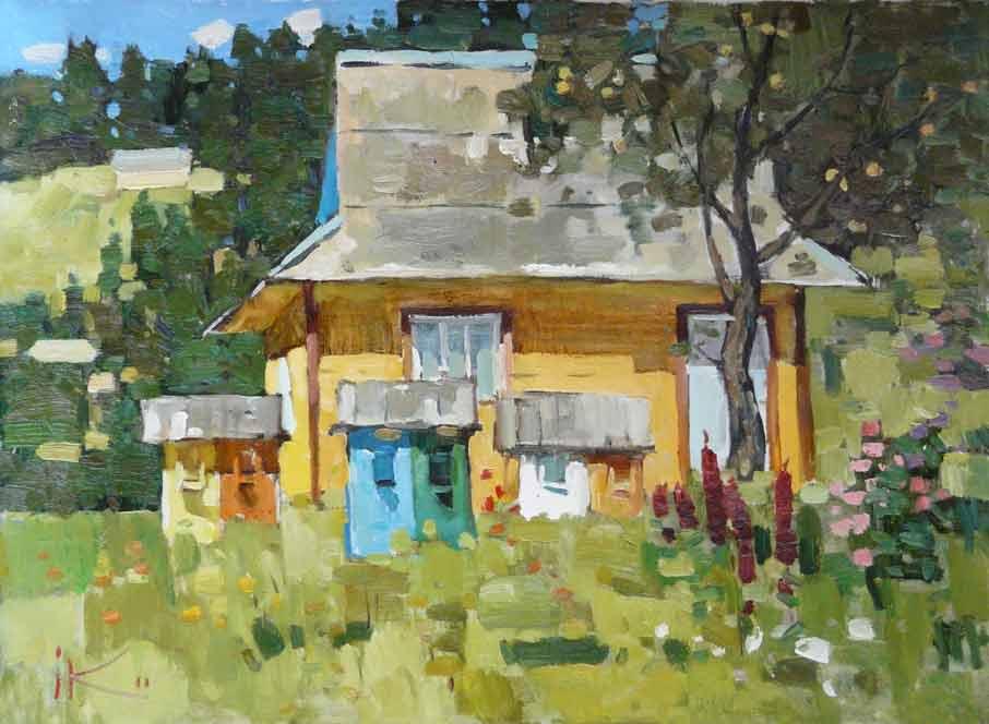 желтій домик