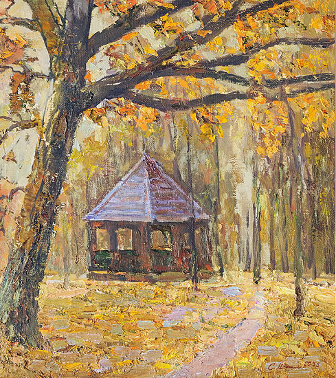 Беседка. Осень