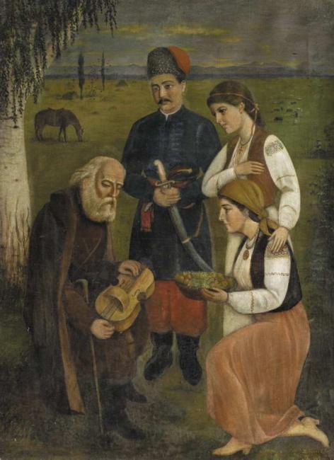 Duma pro Ukrainu, Painting by Ustyn Pitrulyak (1910 )