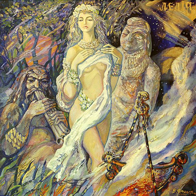 Лілея богиня кохання .Зцикл Давньословянські боги