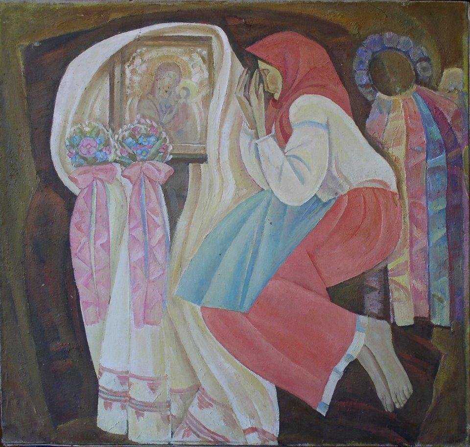 Молитва (Чорнобильські мадонни). 1986 р.