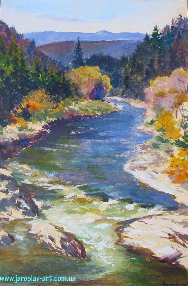 Річка Свіча в селі Мізунь