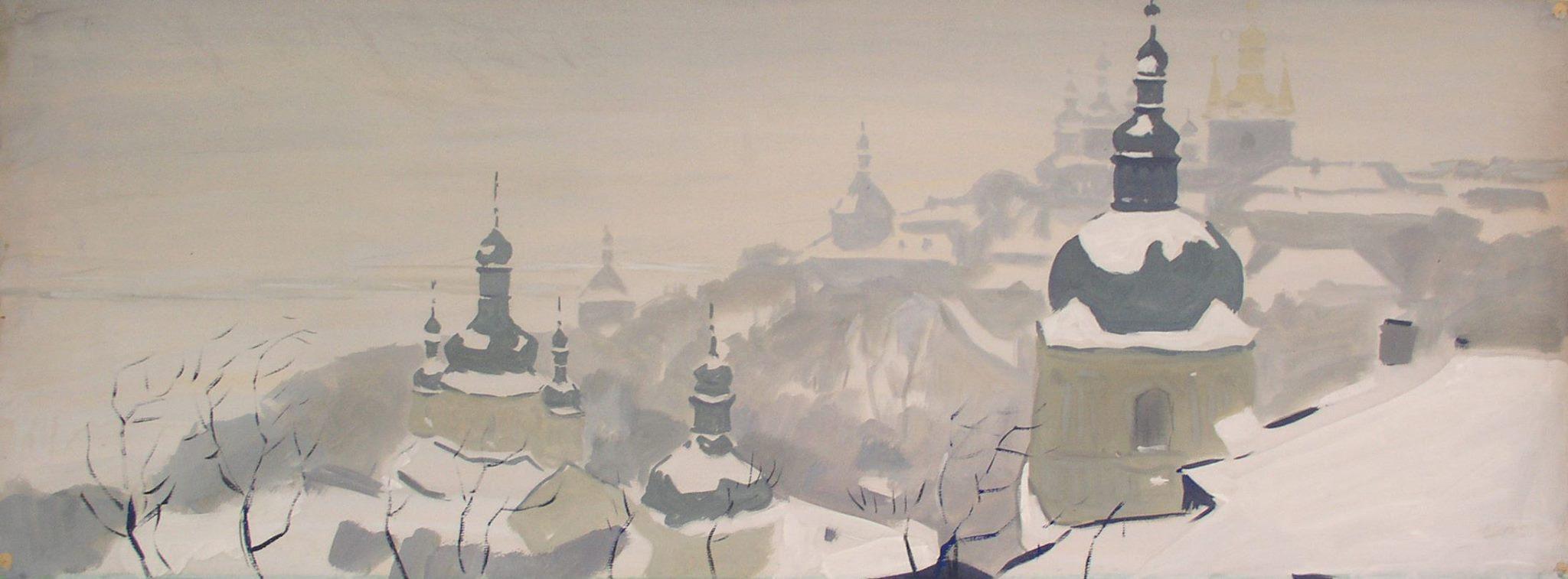 Києво-Печерська Лавра. Зимовий туман