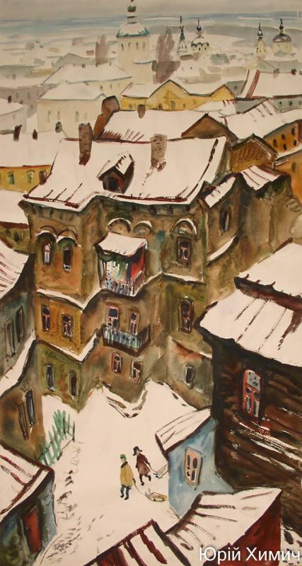 Зимовий Київ.Санчата5