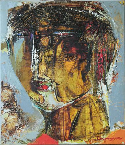 Борис Буряк. Взгляд, 2012, холст, масло, 40х35. Borys Buryak. View, 2012, oil on canvas, 40х35. Борис Буряк. Погляд, 2012, полотно, олія, 40х35