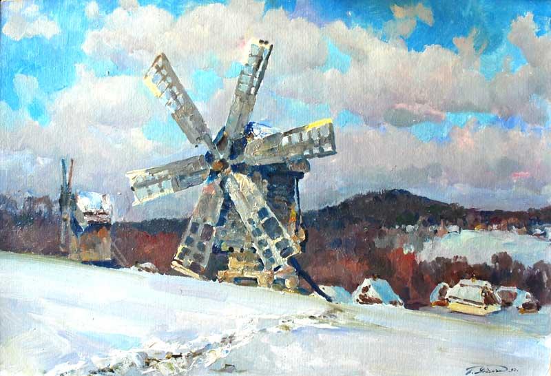 зимовий пейзаж.україна
