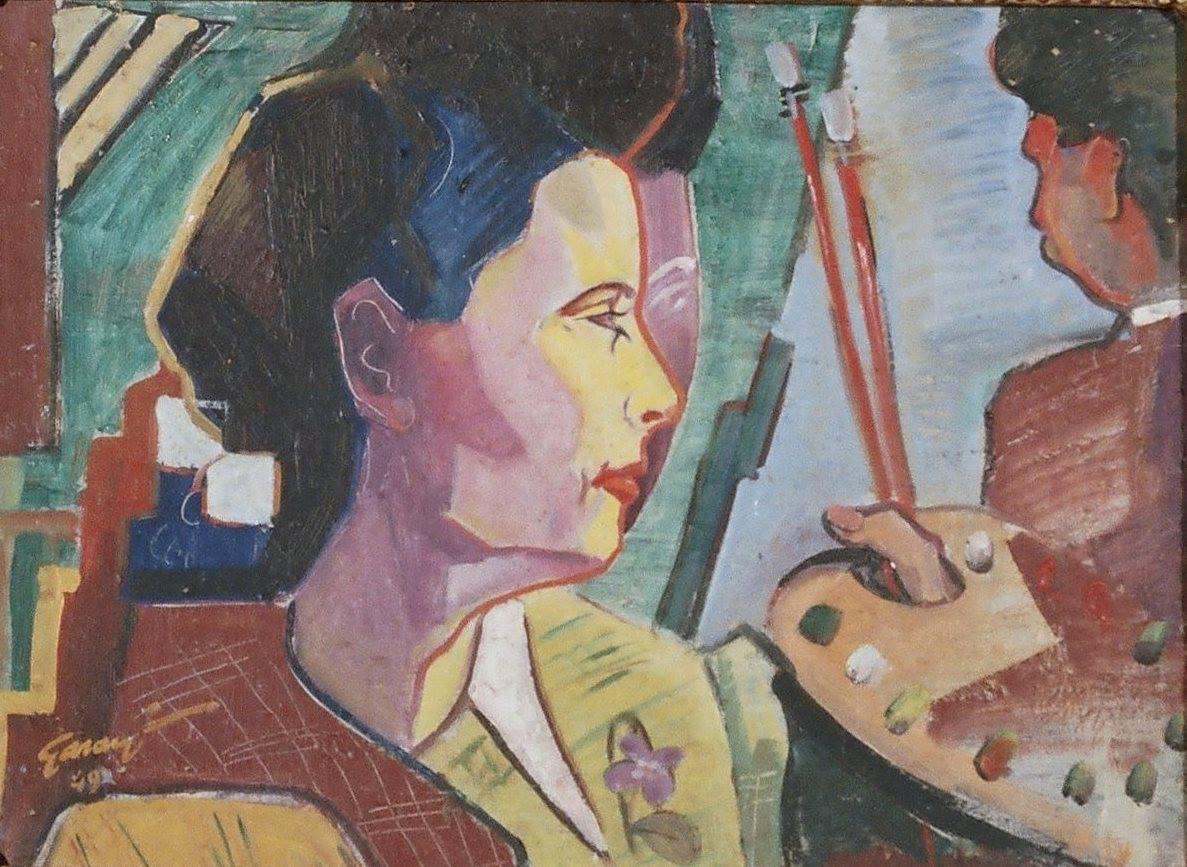Дівчина і митець (Garanyi József - Lány és a művész) (1949). 2 частина триптиху