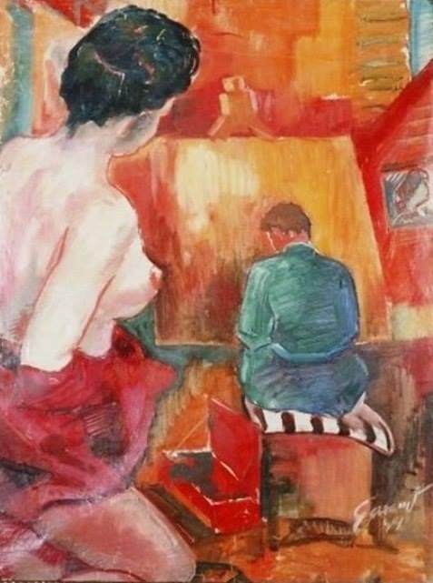Дівчина і митець (Garanyi József - Lány és a művész) (1949).