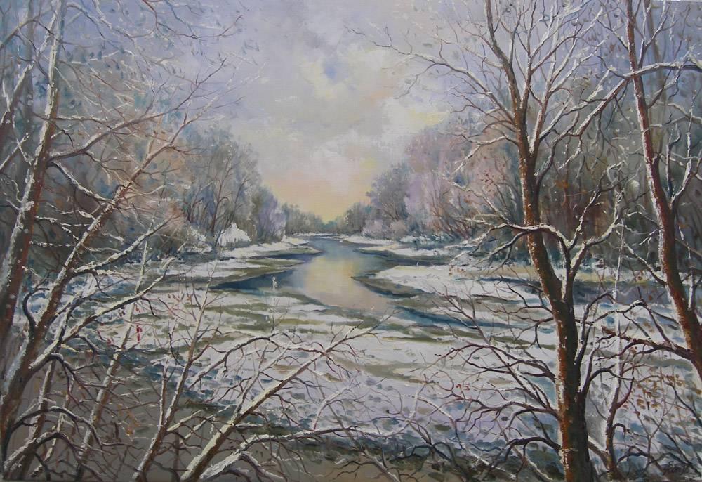 Последний снег на р. Горынь.