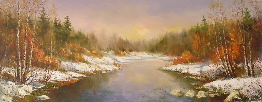береги річки Горині в листопаді