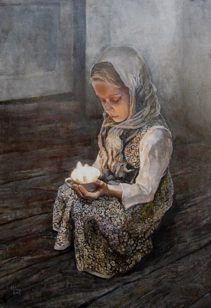 Дівчинка із свічкою (паска)