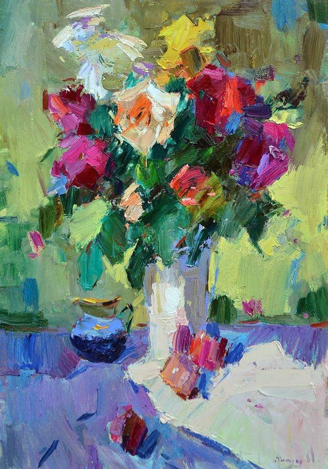 Троянди і персики