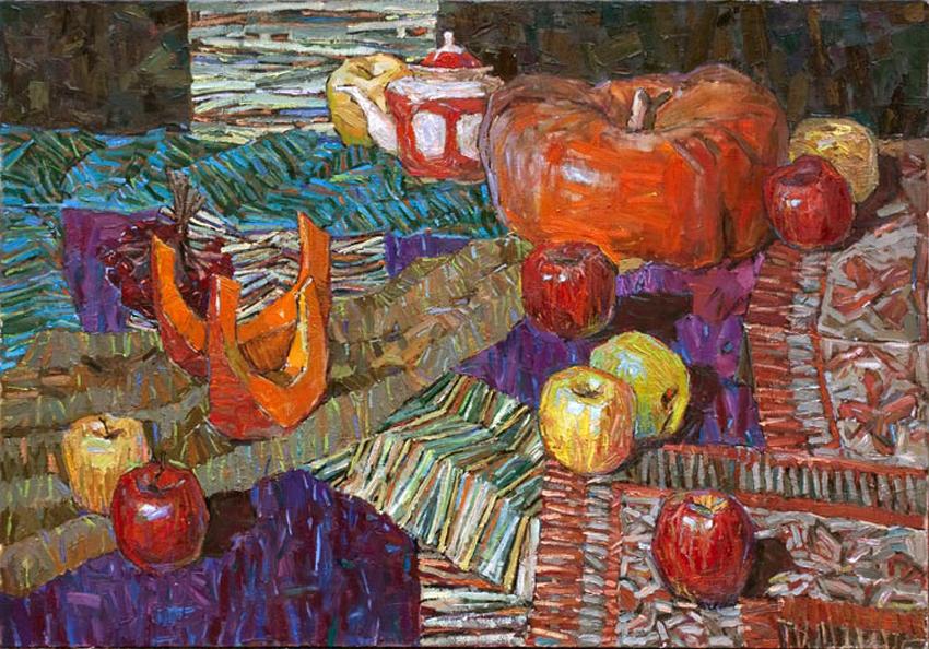 Тыква с яблоками