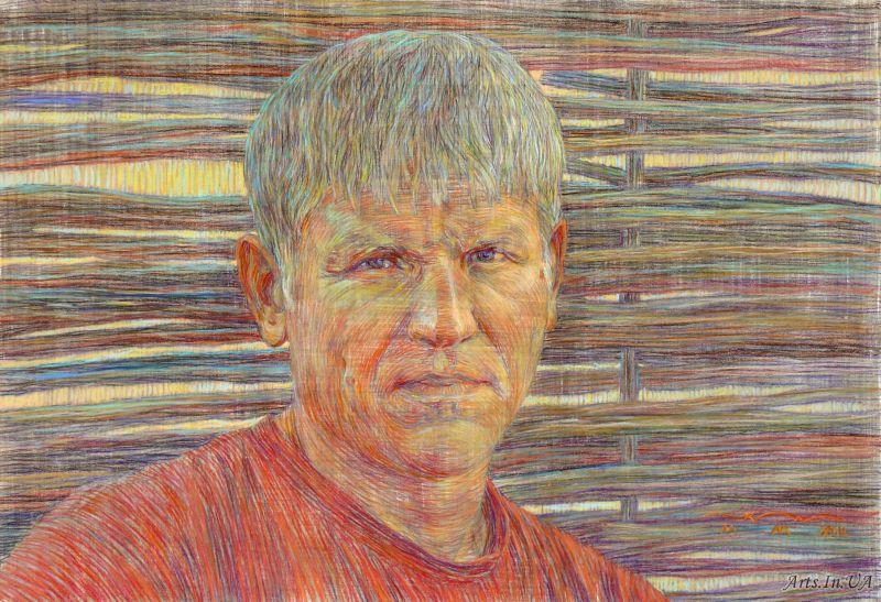 Портрет заслуженного художника Украины Л. Заборовского.