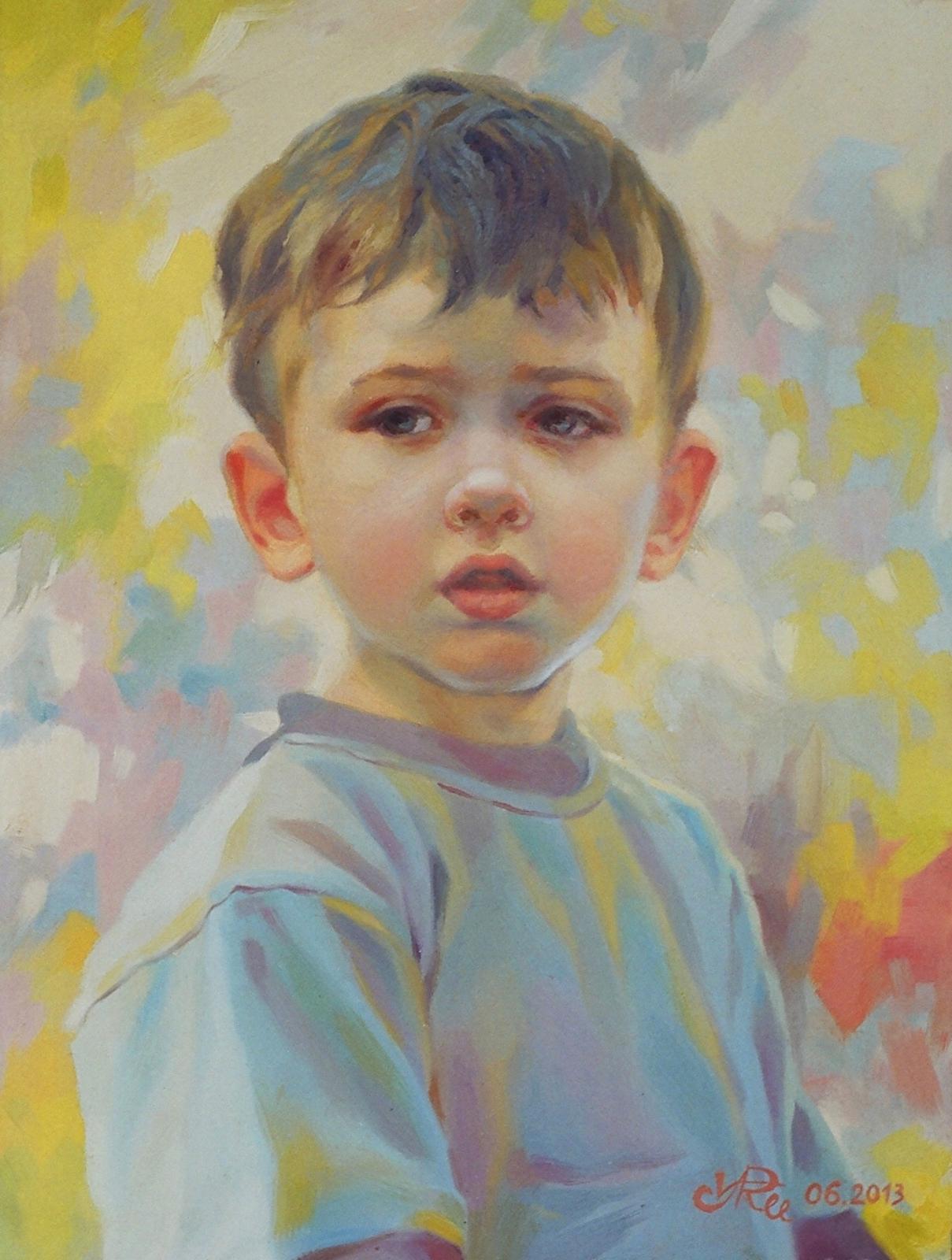 портрет маленького хлопчика