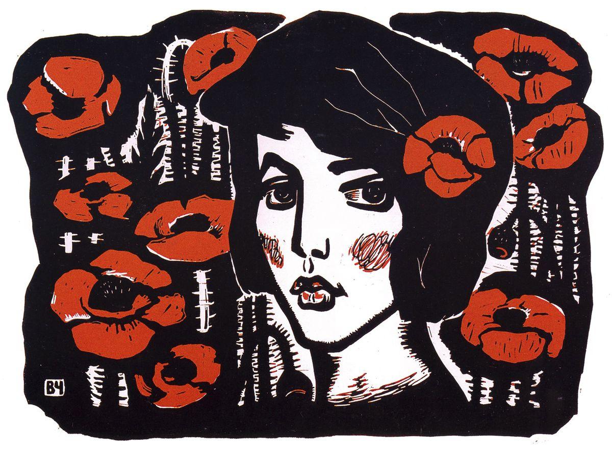 chervoni-maky-1965-linoryt