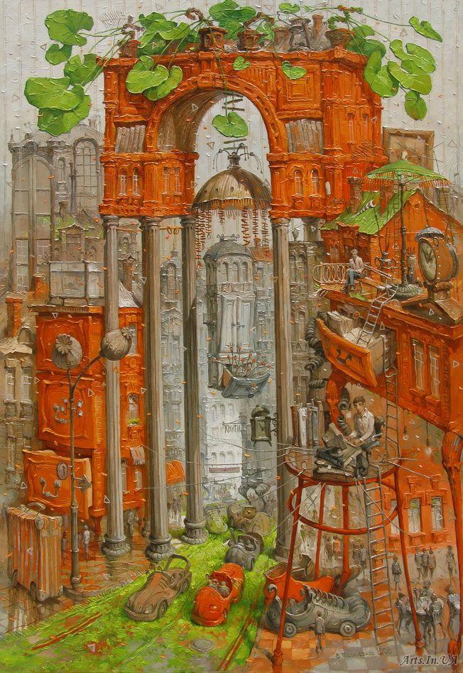 Интерьер с триумфальной аркой