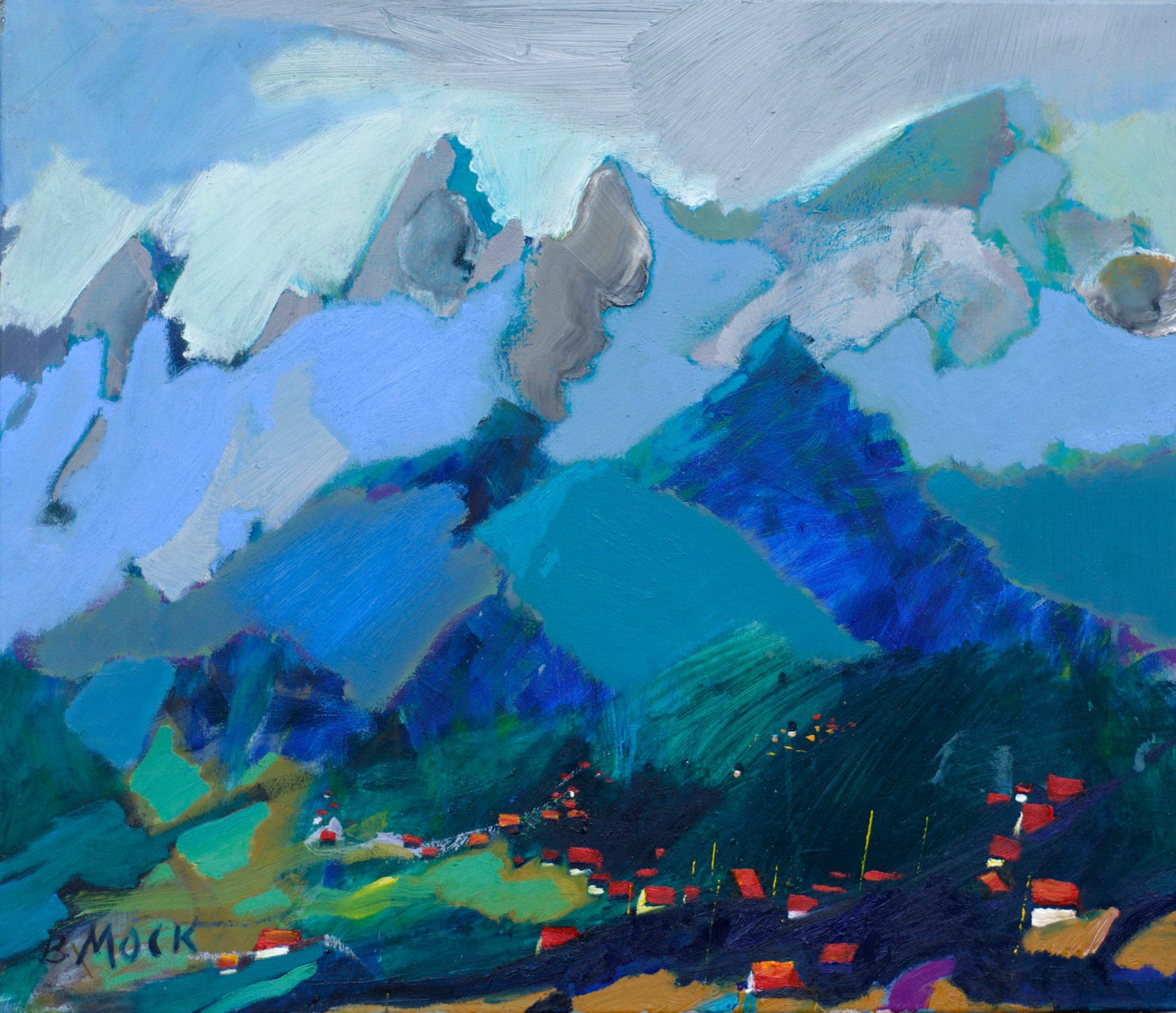 Фрагмент високих гір. Альпи.