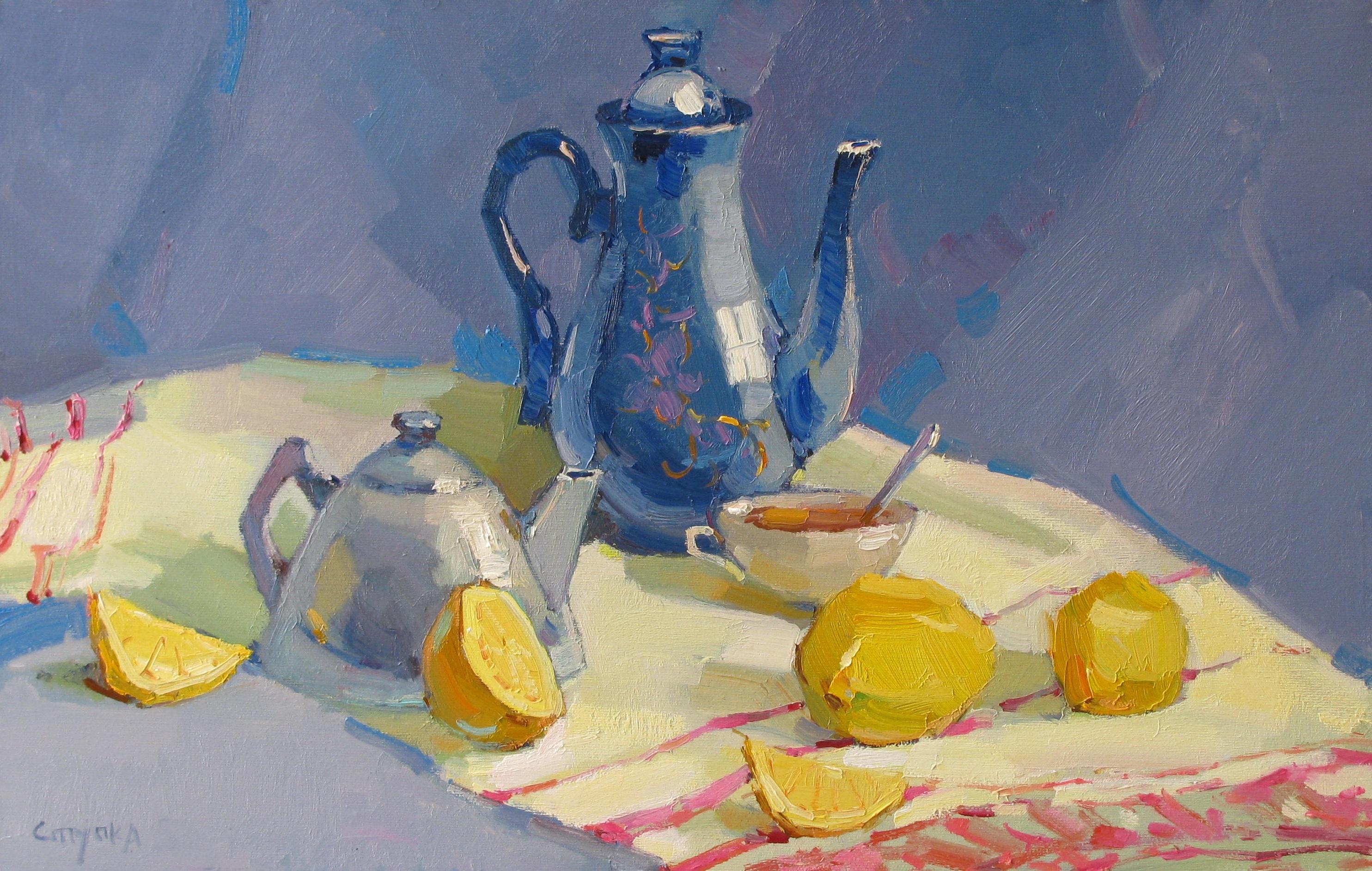 лимон до чаю