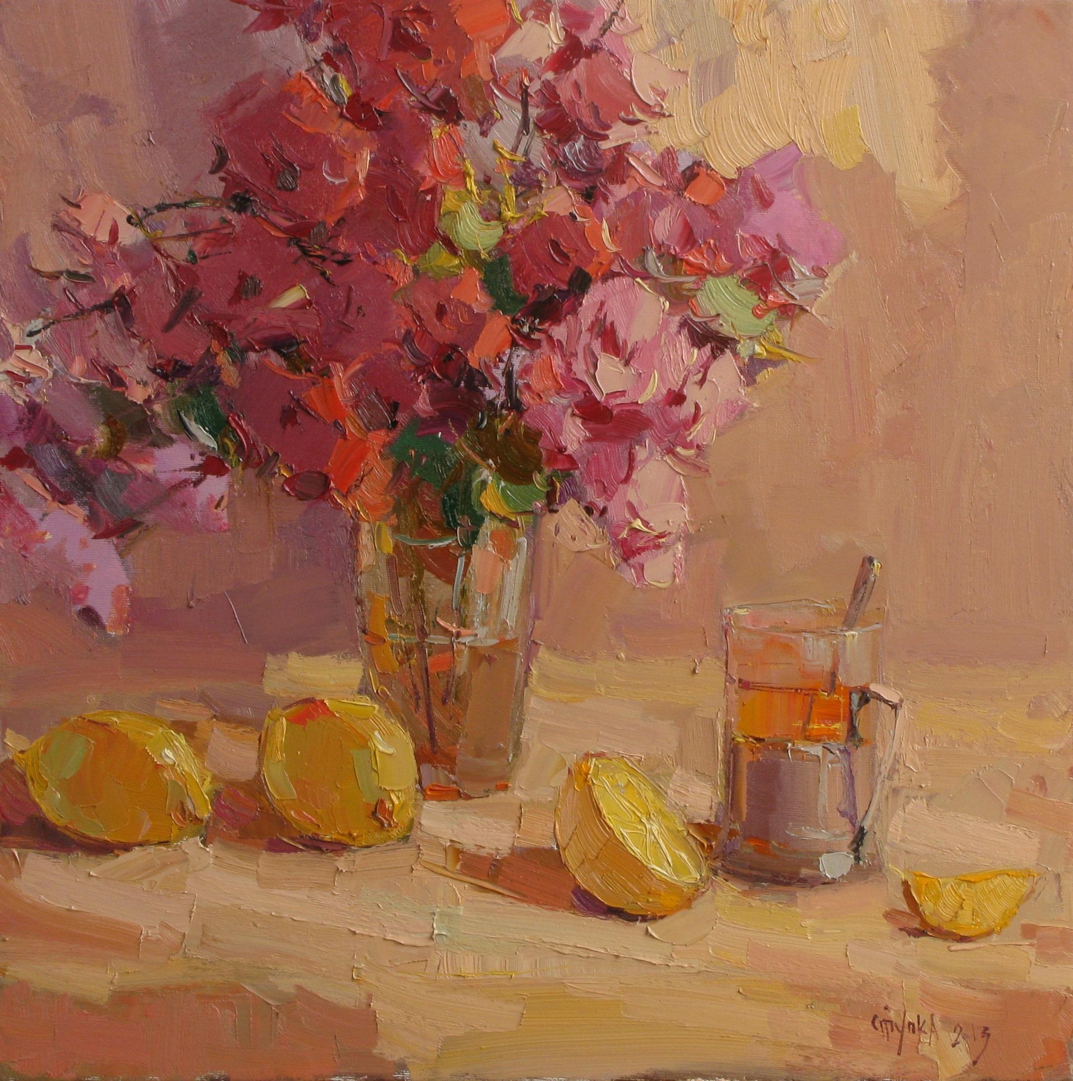 ранковий чай з лимоном