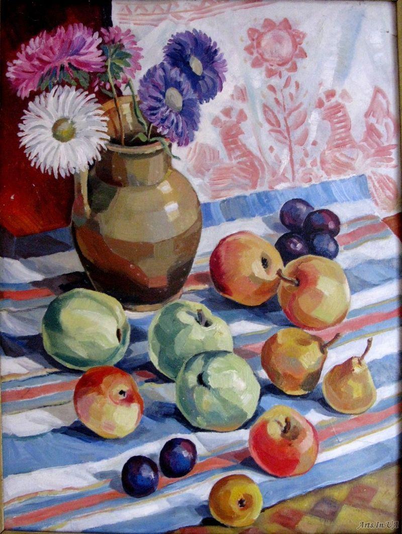 квіти і яблука