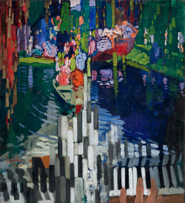 František Kupka: Pianon koskettimet, Järvi (1909).