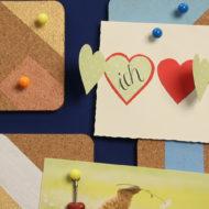 Pinnwand selber machen und Notizen aufhängen