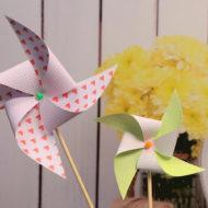 Windrad basteln für den Garten