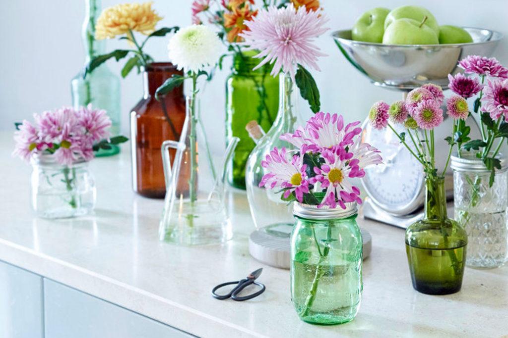 Einmachglas Dekorieren Mit Blumen