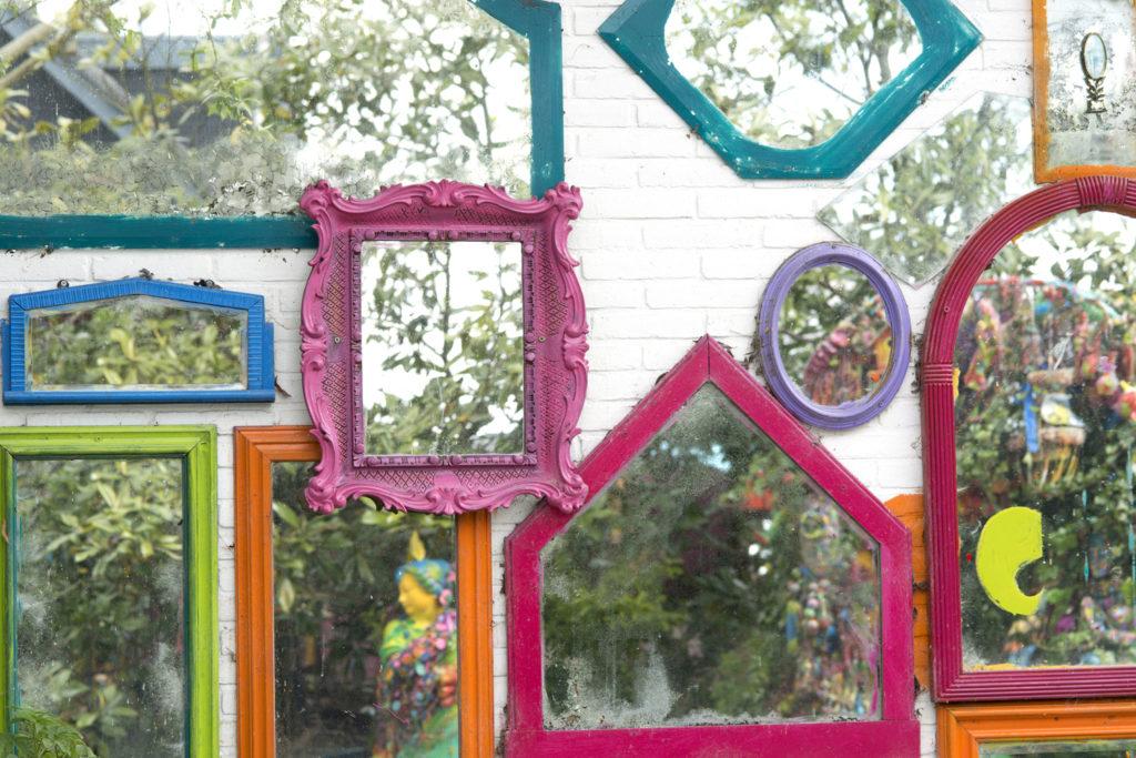 Inspirationen f r deko mit spiegeln - Spiegel im garten ...