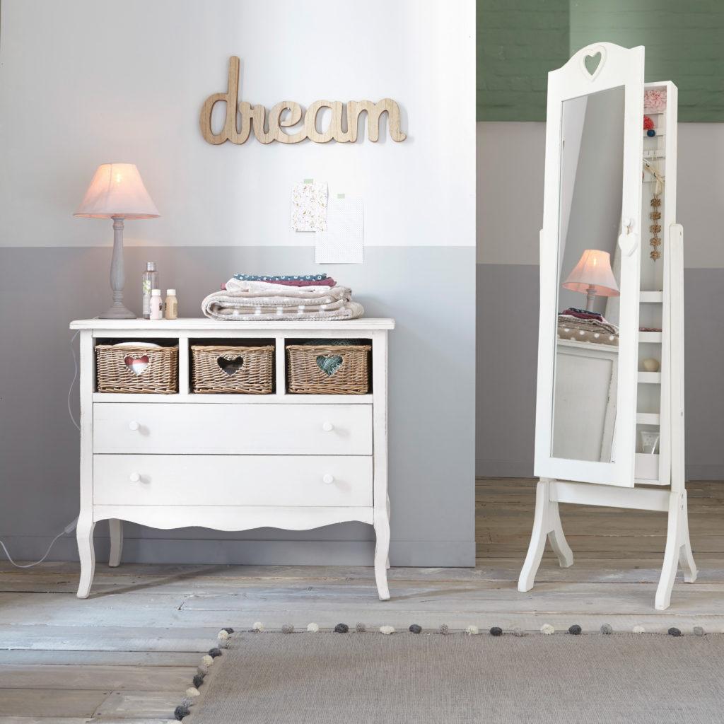 Anspruchsvoll Babyzimmer Wanddeko Referenz Von Deko Mit Spiegel, Kommode Und Schriftzug An