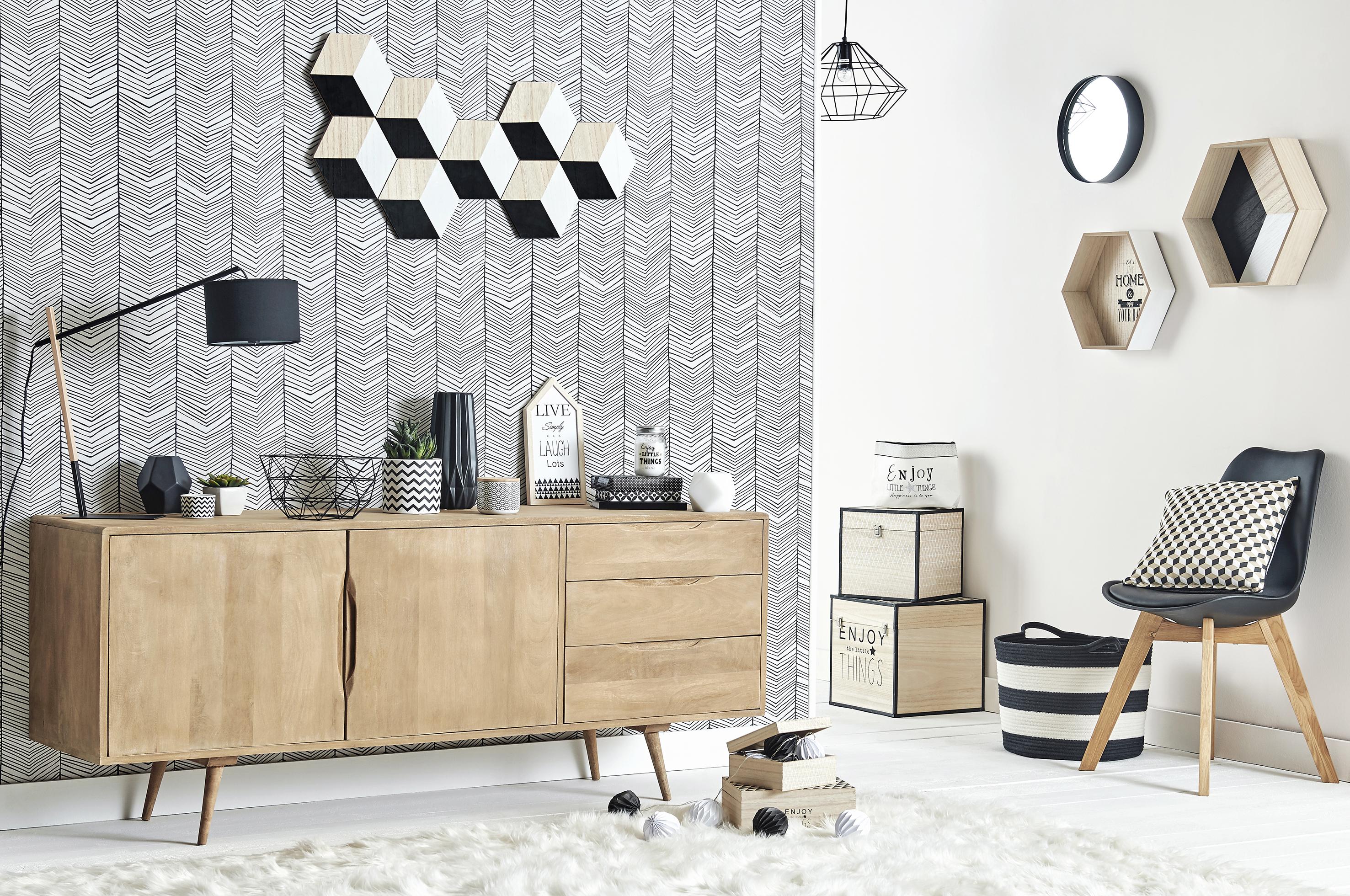 Möbel im skandinavischen Stil.