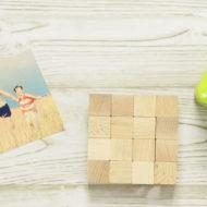 Puzzle selber machen aus Holzwürfeln