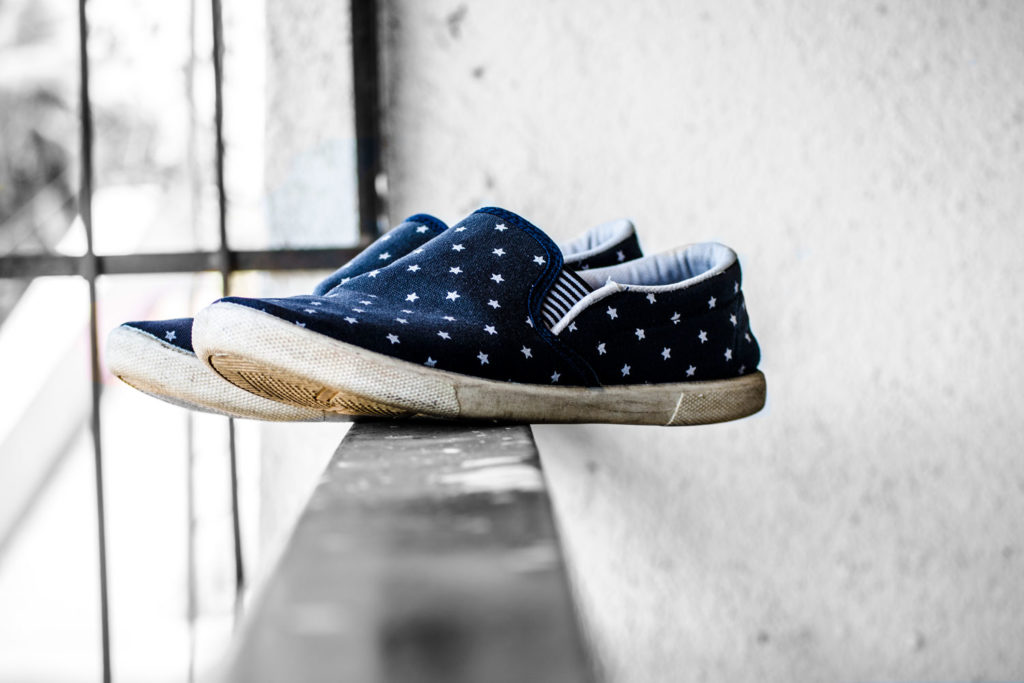 Schuhe mit Sternen bedrucken