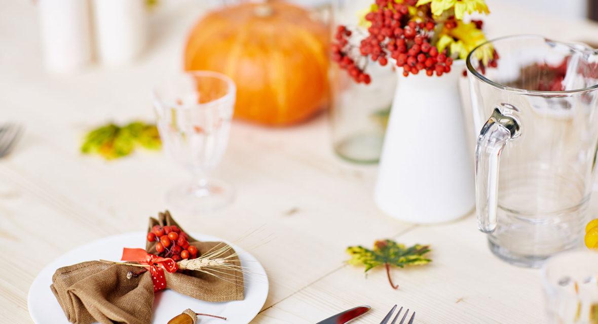Tischdeko Herbst selber machen