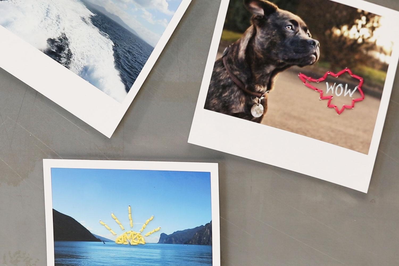 Magnete basteln aus Polaroid Fotos