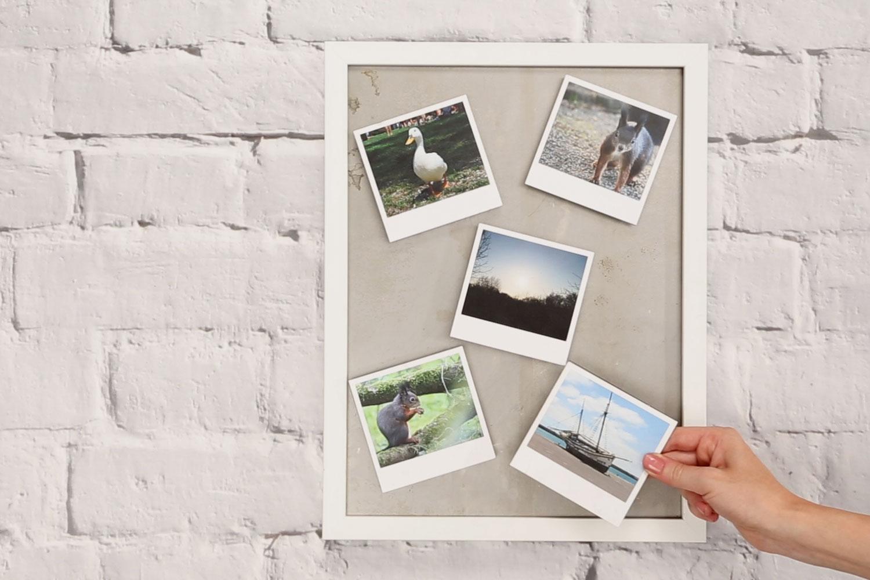 Magnete gestalten mit Polaroids
