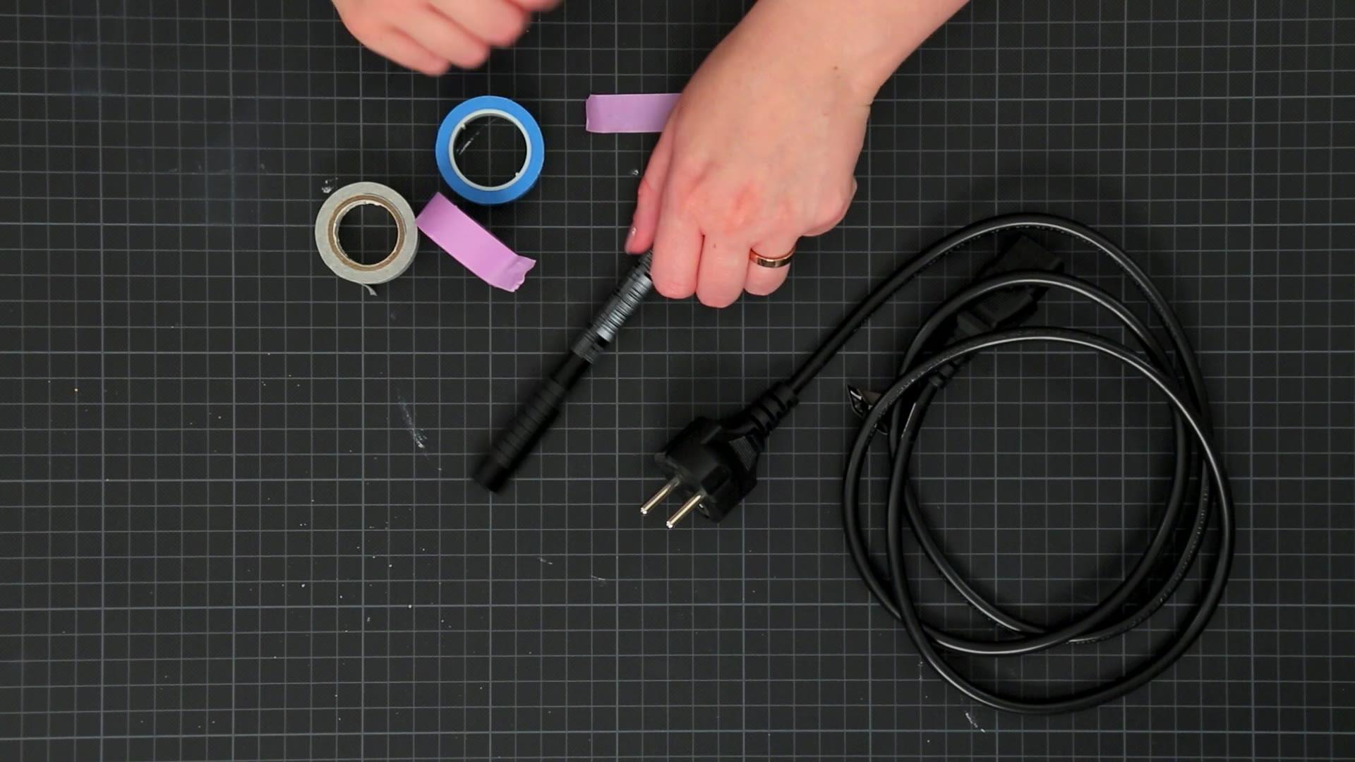 Kabel und Washi Tape