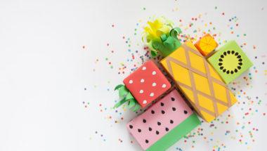 Geschenkverpackung basteln als Obst