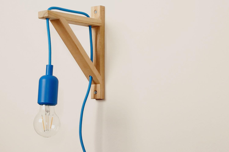 Lampe selber bauen aus einem Ikea Regalwinkel