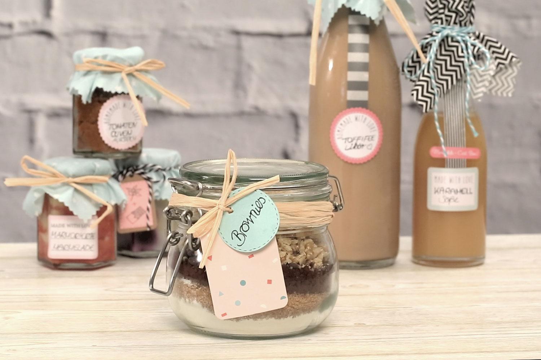 Brownie Backmischung im Glas selber machen