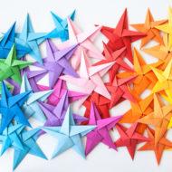 Sterne basteln aus Papier
