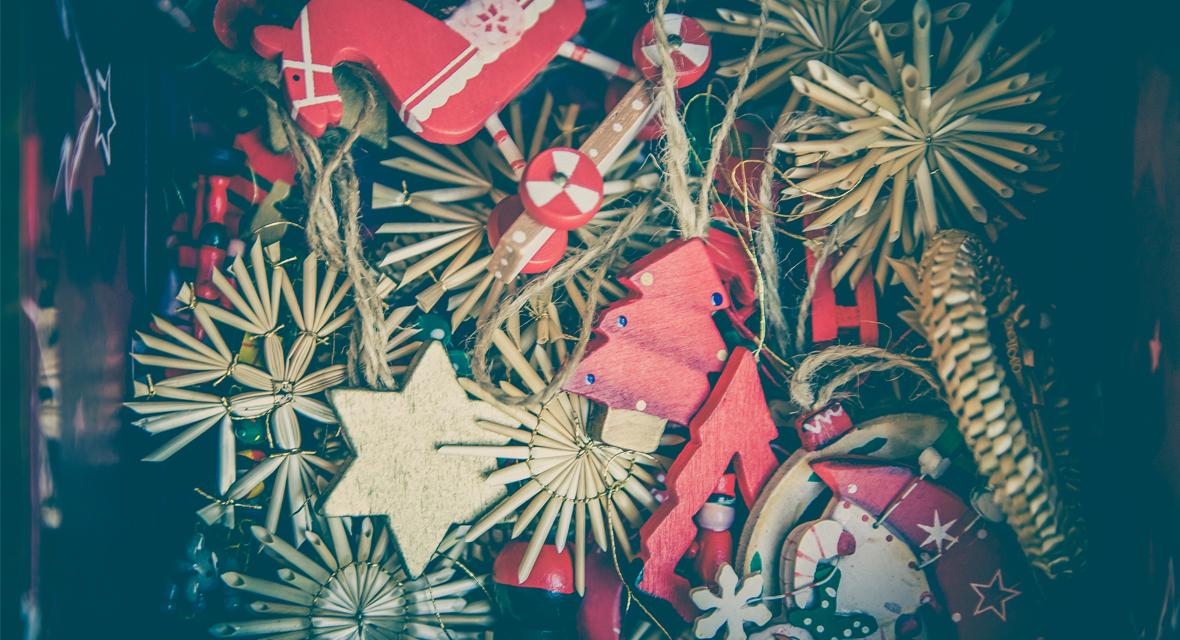 Weihnachtsschmuck in Box