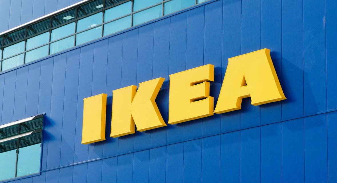 Ikea Schriftzug auf einer Filiale