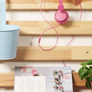 Wand-Organizer aus einem Ikea Lattenrost